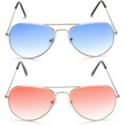 Vishva Trendz Hub Aviator Sunglasses(Multicolor)