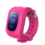 Ceas inteligent pentru copii Q50 Roz cu telefon localizare GPS si monitorizare spion