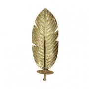 Xenos Kaarshouder blad - goudkleurig - 16.5x13x45.5 cm