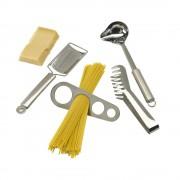 Set pentru facut spaghete, argintiu, Everestus, UB01AE, otel inoxidabil, saculet inclus