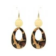 My Jewellery-Oorbellen-Leren Oorbellen-Bruin