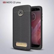 Funda Case Para Motorola Moto Z2 Play Protector TPU Tipo Piel - Negro