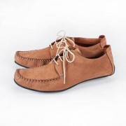 Leisure Sole Runner® Leather Moccasins, 9.5 - Cognac