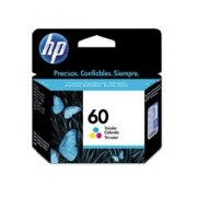 CARTUCHO DE TINTA HP 60 TRICOLOR HASTA 165 PAGINAS CC643WL
