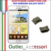 Sostituzione Riparazione Saldatura Porta Connettore Jack Usb Carica Ricarica per Samsung Galaxy NOTE N7000