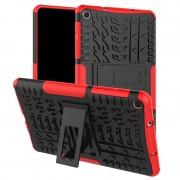 Samsung Band textuur TPU + PC schokbestendig geval voor Galaxy tab A 8 (2019) P200/P205 met houder (rood)