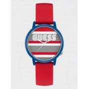 Guess Horloge Met Kast Met Logo En Streepjesmotief - Rood multi - Size: T/U