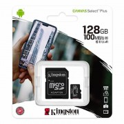 Kingston CANVAS SELECT PLUS MICROSDXC 128GB CLASS10 UHS-I A1 100MB/S