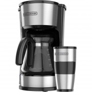 Cafetera Black + Decker CM0755S-MX 4 en 1 Para 5 Tazas-Negro