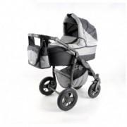 Adbor Zipp kolica za bebe sivi ram set 2u1