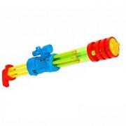 Pistol cu apa pentru copii Globo 55 cm, cu 5 tuburi, verde cu albastru