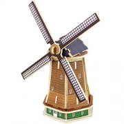 Panegy 3D Holland Windmill Wood Jigsaw Puzzle DIY Woodcraft Model Kit Toys