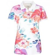 In Linea Piqué-Poloshirt mit Blumenprint - Size: 36 38 40 42 44 46