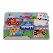 Puzzle din lemn Chunky Traffic