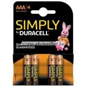 Duracell AAA Simply ceruza elem 4db (LR03)