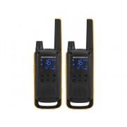 Motorola Walkie-talkie MOTOROLA T82 Extreme Duo (16 Canales - 121 Sub-Canales - 10 Km - Hasta 18h de autonomía - Negro)