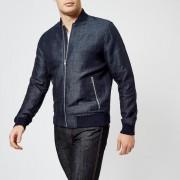 Michael Kors Men's Engineered Stripe Bomber Jacket - Midnight - S - Blue