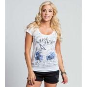 utcai póló női - DARKNESS FALLS SCOOP - METAL MULISHA - M157S18111.01_WHT