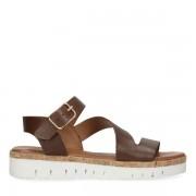 Sacha Bruine plateau sandalen van leer