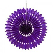 Confetti Paper Pinwheel Decor - Grape