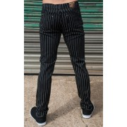 pantaloni uomo 3RDAND56th - Gessato - Blk/Wht - JM1151