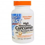 Doctors Best Best Curcumin C3 Complex 500 mg (120 Capsules) - Doctor's Best