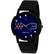 Golden Bell Original Blue Dial Wrist Watch with Black Chain for Men
