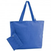 Merkloos Polyester blauwe strandtas 47 cm