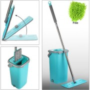 Smile Mom Magic Flat Mop Stick Rod with Bucket Set in Offer for Wet Dry Use Best 360 Degree Spin Easy Floor Cleaning