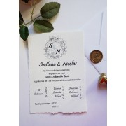 Invitatie nunta carton OPIS070