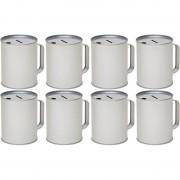 Geen 8x Zilveren blanco collectebussen 10 x 13 cm