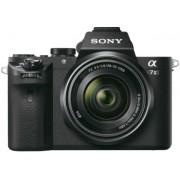 Aparat Foto Mirrorles Sony Alpha 7 II + Obiectiv 28-70mm, 24.3 MP, Filmare Full HD (Negru)