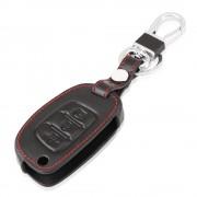 Auto Lederen Flip Sleutel Beschermhoes Voor Hyundai I10 I20 IX25 IX35 IX45 Elantra Accent Auto Styling RIMIDI