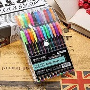SLB Works 24 Pcs Color Gel Pen Set Adult Coloring Book Ink Pen Drawing Painting Craft Art for School Home