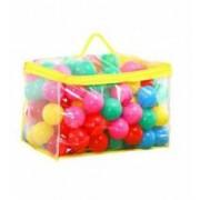 Set 100 de Bile Multicolore din Plastic pentru Joaca Copii Diametru 6cm