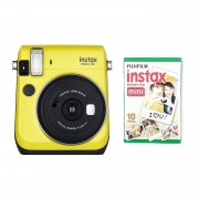 Fuji Instax Mini 70 Camera with 10 Shots Yellow