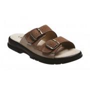 Zdravotní pantofle Sante N/517/36/47/28 CP hnědé