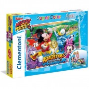 Clementoni puzzle supercolor mickey and the roadster racers 40 pezzi 25457