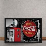 Quadro Decorativo Coca Cola Placa 25x35