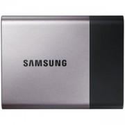 Външен диск Samsung Portable SSD T3 Series, 250 GB 3D V-NAND Flash, Slim, USB 3.0, Metal Silver, MU-PT250B/EU