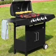 Plynový zahradní GRIL BBQ TORA 4 hořáky černá