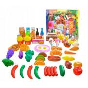 Set bucatarie fructe, legume si alte mini-produse alimentare pentru copii, 54 elemente