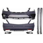 Classe Bodykit kit estetico TUNING completo AMG MERCEDES ClasseS W222 anni 2013 2014 2015 2016 paraurti minigonne griglie scarichi passo lungo look S65 finitura nera