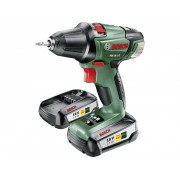Bosch Home and Garden PSR 18 LI-2 Accuschroefboormachine 18 V 2.5 Ah Li-ion Incl. 2 accus, Incl. koffer