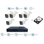 Kamerový system AHD 6x bullet kamera 720P s 20m IR a DVR + 1TB