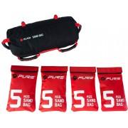 Pure Sandbag 20 kilogram zwart/rood