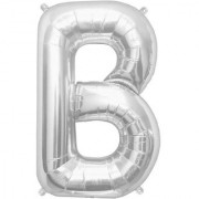 Stylewell 16 Inch Alphabet (B) Soild (Silver) Color 3D Foil Balloons For Birthday And Anniversary Parties Decoration