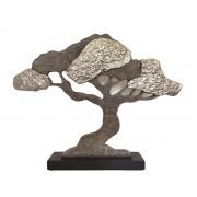 Copac decorativ Baobab in bej si argintiu cod HAL022