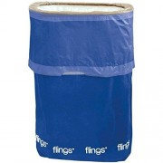 Amscan Flings Bright Royal Patented Pop-Up Trash Bin, 22 x 15 x 10/13 gallon, Blue by