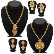 Sukkhi Blossomy Gold Plated Kundan Set of 2 Necklace Set Combo For Women